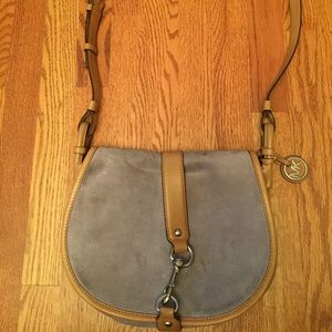 Michael Kors Blue gray suede and leather purse